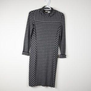 Tory Burch Stripe Sweater Dress Cowl Neck XS NWT
